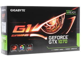 Видеокарта GIGABYTE GeForce GTX 1070 G1 GAMING [GV-N1070G1 GAMING-8GD]