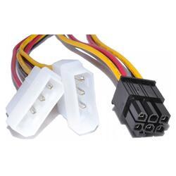 Переходник FinePower PCI-E 6-pin - Molex x2