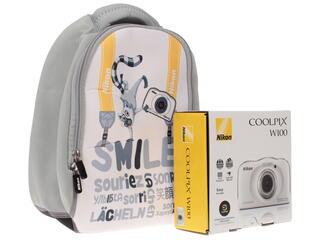 Компактная камера Nikon Coolpix W100 белый
