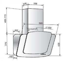 Вытяжка каминная ELIKOR КВАРЦ 60П-1000-Е4Г бежевый