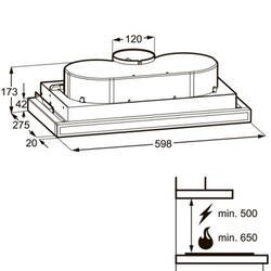 Вытяжка полновстраиваемая Zanussi ZHP60131X серебристый