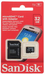 Карта памяти SanDisk microSDHC 32 Гб
