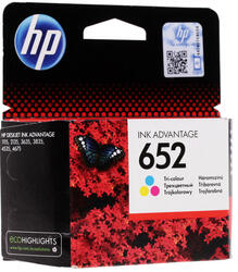 Картридж струйный HP 652 (F6V24AE)