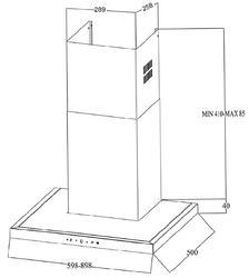 Вытяжка каминная Zigmund & Shtain K 201.61 W серебристый