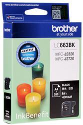 Картридж струйный Brother LC-663BK