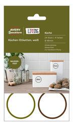 Самоклеящиеся этикетки Avery Zweckform Living 62001