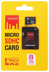 Карта памяти STRONTIUM microSDHC 8 Гб