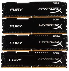Оперативная память Kingston HyperX FURY [HX424C15FBK4/16] 16 Гб