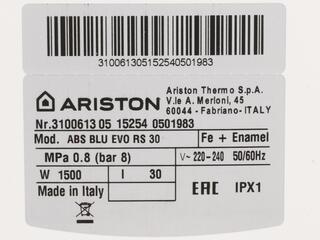 Водонагреватель Ariston ABS BLU EVO RS 30