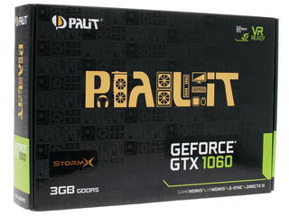Видеокарта Palit GeForce GTX 1060 STORMX 3G [NE51060015F9-1061F]