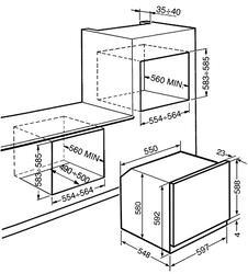 Электрический духовой шкаф Smeg SF6603NXE