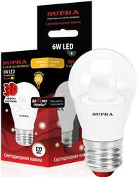 Лампа светодиодная Supra SL-LED-CR-G45-6W/3000/E27