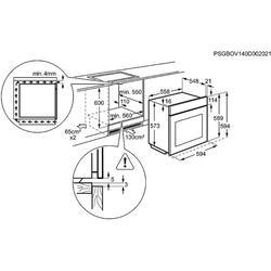 Газовый духовой шкаф Electrolux EOG91402AX