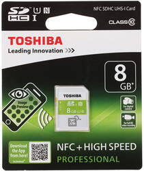 Карта памяти Toshiba NFC SDHC 8 Гб