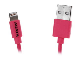 Кабель A-Data [AMFIPL-100CM-CPK] USB - Apple 8-pin розовый