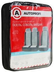 Чехлы на сиденья AUTOPROFI GAZ-002 BK/GY