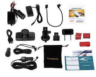 Видеорегистратор Trendvision TDR-718GP + держатель для телефона Trendvision Dash-MH-1
