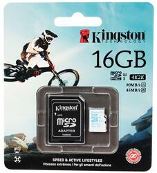 Карта памяти Kingston Action Card microSDHC 16 Гб