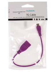 Кабель OTG Solomon micro USB - USB фиолетовый