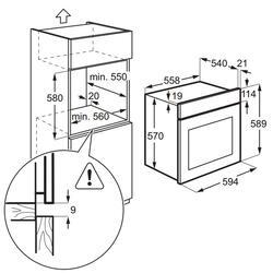 Электрический духовой шкаф ZANUSSI OPZB4230W