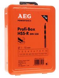 Набор сверл AEG ProfiBox HSS-R