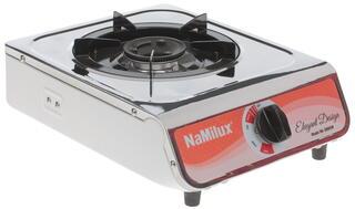 Газовая плитка NaMilux NA300ASM белый, серебристый, красный