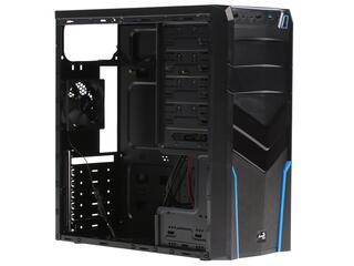 Корпус AeroCool V2X Blue Edition черный