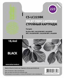 Картридж струйный Cactus CS-LC223BK