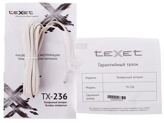 Телефон проводной TeXet TX-236
