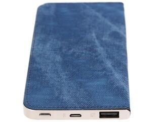 Портативный аккумулятор Qumo PowerAid Slim Smart 4000 серебристый, синий