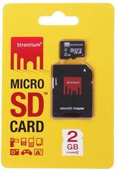 Карта памяти STRONTIUM microSD 2 Гб