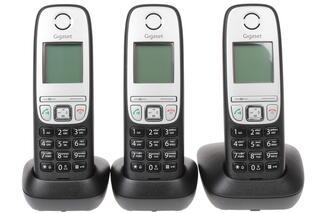 Телефон беспроводной (DECT) Gigaset A415 TRIO Black