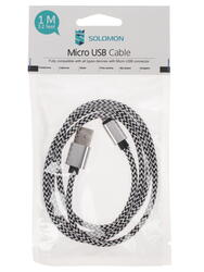 Кабель SOLOMON Nylon USB - micro USB