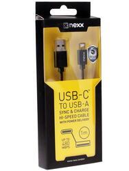Кабель NEXX  USB A - USB-C черный