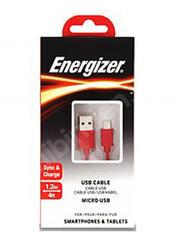 Кабель Energizer Classic micro USB - USB красный