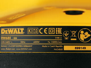 Электрический рубанок DeWalt DW 680