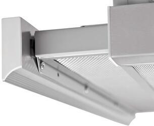 Вытяжка встраиваемая Pyramida TL GLASS 50 INOX WHITE/N серебристый