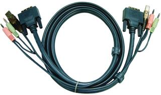 [ATEN 2L-7D03UD] 2L-5303UP Кабель/шнур, монитор+клавиатура+мышь, 3m