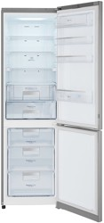 Холодильник с морозильником LG GA-B489SMQZ серебристый