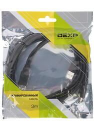 Кабель DEXP Ux2MiuBSI300 2xUSB - mini USB черный