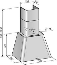 Вытяжка каминная Elikor Гамма 60П-650-Э3Г бежевый