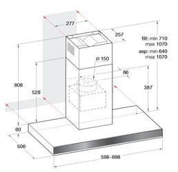 Вытяжка каминная Hotpoint-Ariston HLB 6.7 AT X/HA  черный