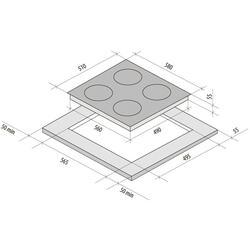 Электрическая варочная поверхность Fornelli PV 6022 INVERNO