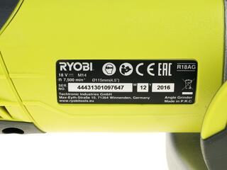 Углошлифовальная машина Ryobi R18AG-L13S