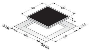 Электрическая варочная поверхность Zigmund & Shtain CIS 028.60 WX