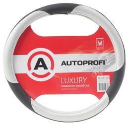 Оплетка на руль AUTOPROFI LUXURY AP-1010 черный