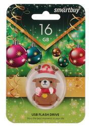 Память USB Flash Smartbuy NY series Медведь Caribou 16 Гб