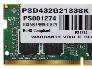 Оперативная память SODIMM Patriot Signature [PSD432G2133SK] 32 ГБ