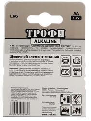 Батарейка Трофи LR6-4BL