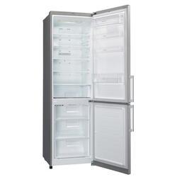 Холодильник с морозильником LG GA-B489ZMCL серебристый